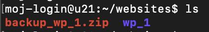 terminal - ls - zipped