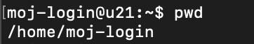terminal - pwd