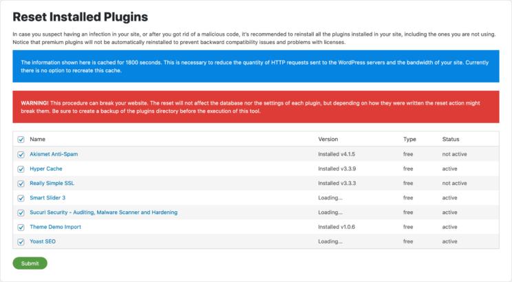 czyszczenie - sucuri plugins